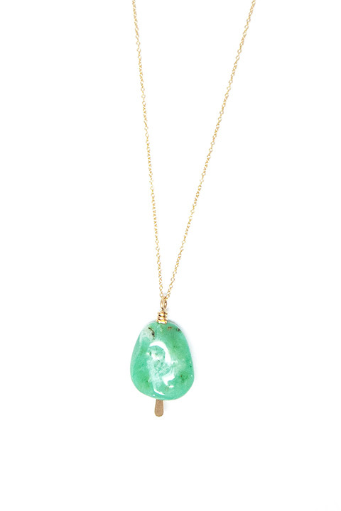 Chrysoprase Drop Necklace by Mary MacGill