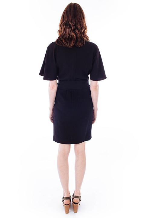 Ganni Clark Shirt Dress in Black