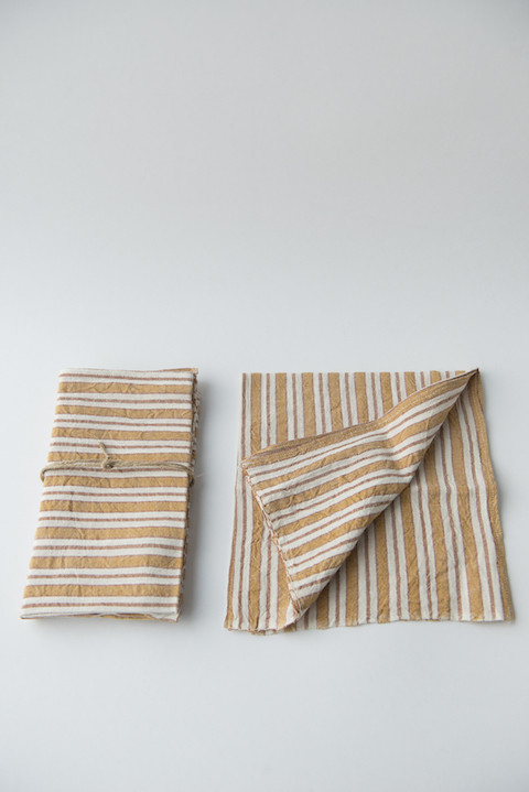 Heather Taylor Home Hand-Woven Napkins in Gold (Set of Four)