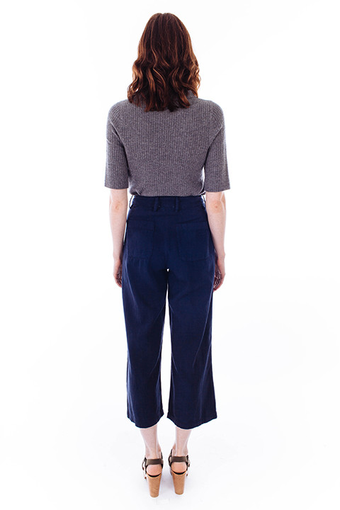 LACAUSA Lola Trousers in Navy