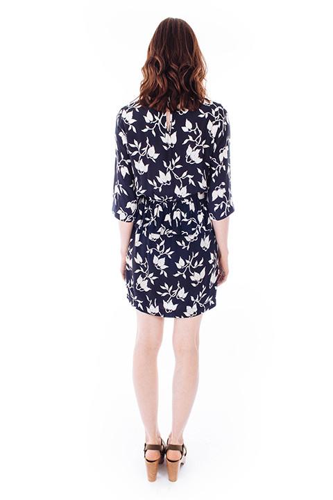Ganni Maxwell Crepe Dress in Flower