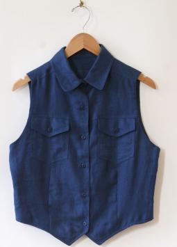 Royal Blue Vest by Namesake Vintage