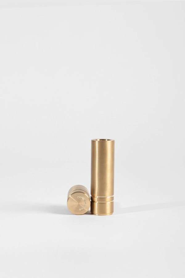 Habitual Goods Set of Two Candle Holders - Brushed Brass