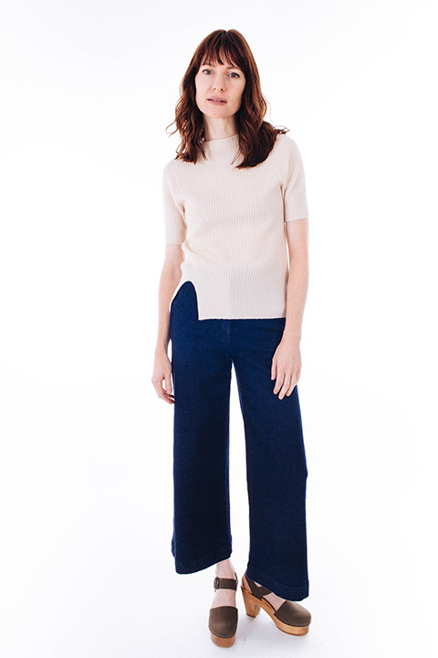 Slouchy Wide Leg Cropped Jeans by M. Martin