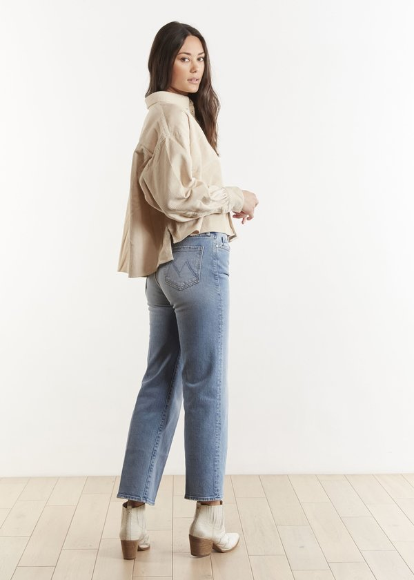 Mother Denim Kick It Ankle Jeans - Give It Up