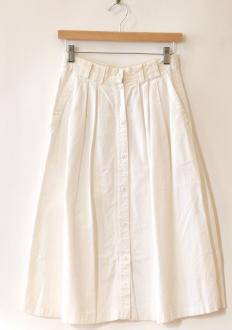 White Button Front Skirt by Namesake Vintage