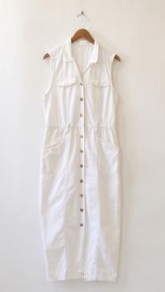 Namesake Vintage White Denim Dress