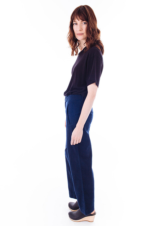 Ganni Yoshe Pants in Iris