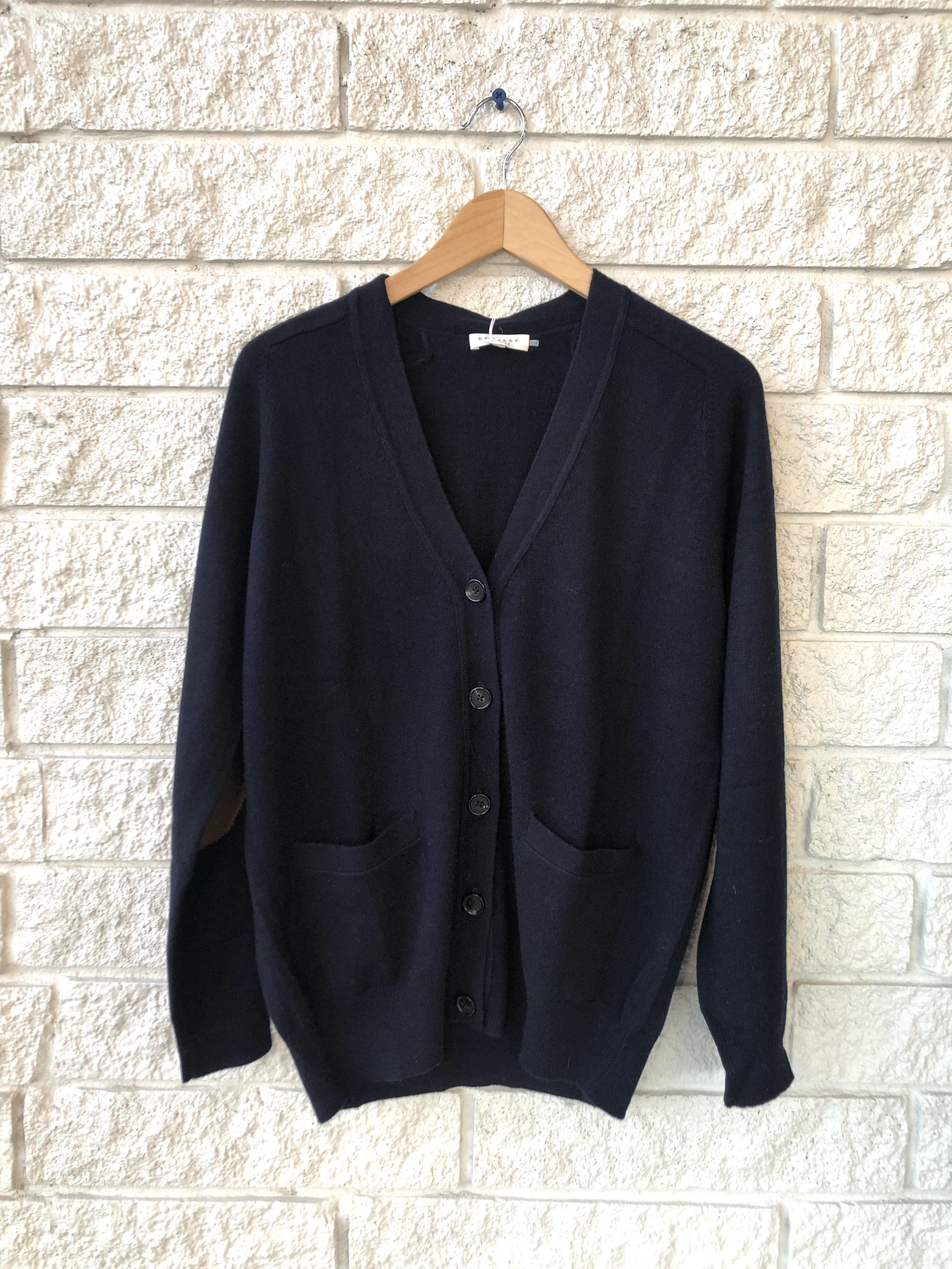 Karun Navy V-Neck School Cardigan