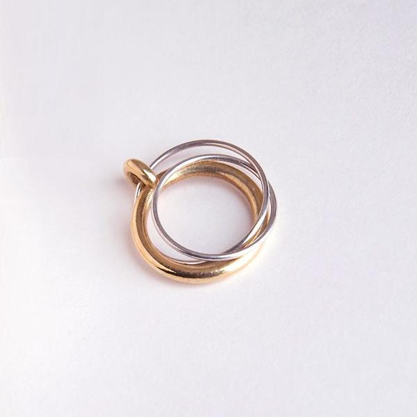 Metalepsis Projects Ternary Ring - Silver/Brass