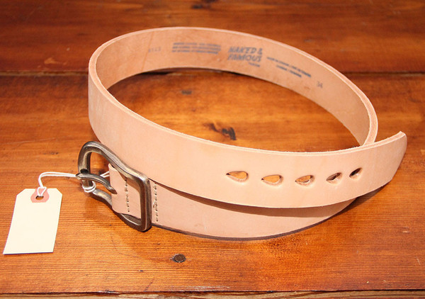 Mens Naked  Famous - Thick Belt - Natural Tan  Garmentory-4544