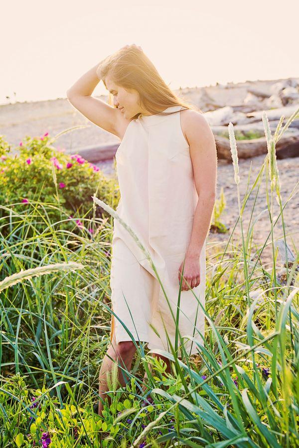 Ajaie Alaie Enza Dress - Mother of Pearl