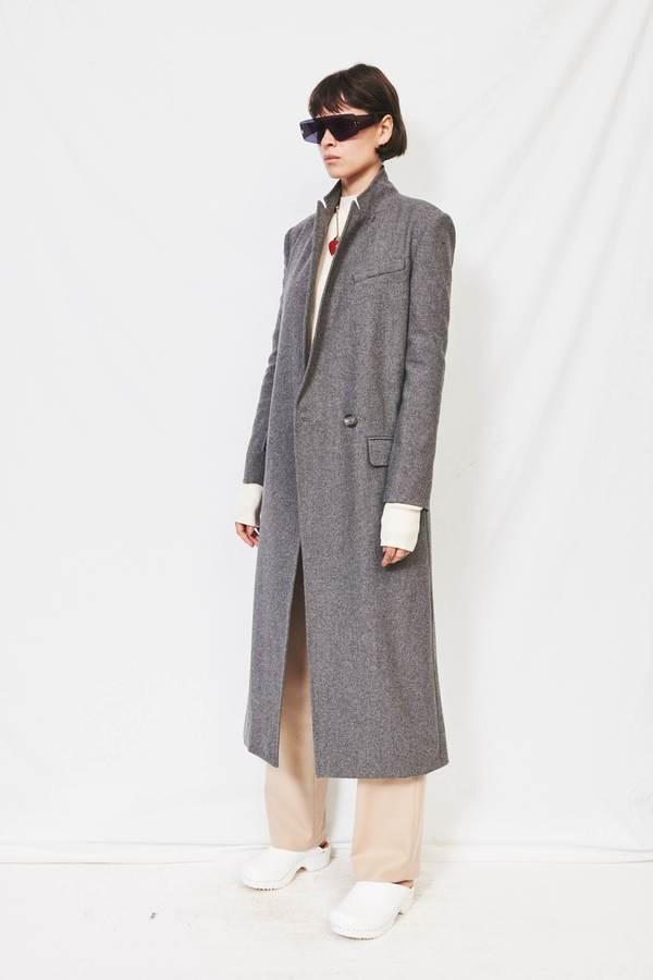 Assembly Long Wool Coat - Grey