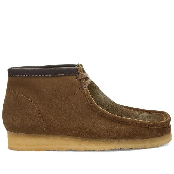 Clarks WALLABEE BOOT - OLIVE INTEREST