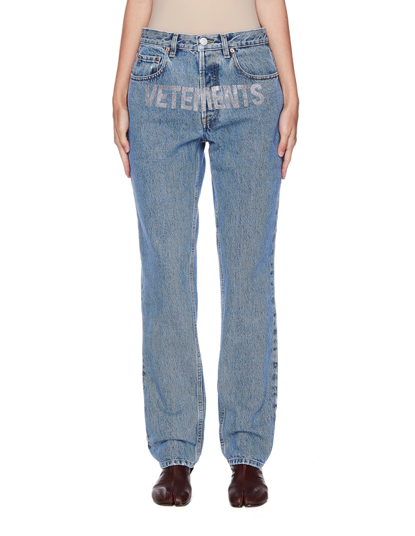 Vetements Decorated Vetements Logo Jeans