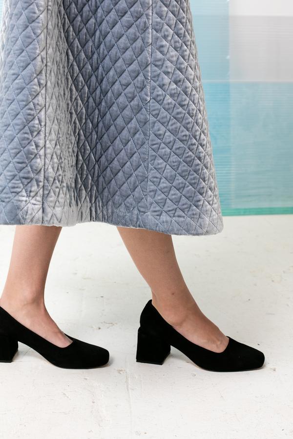 Ganni Hayden Velvet Skirt