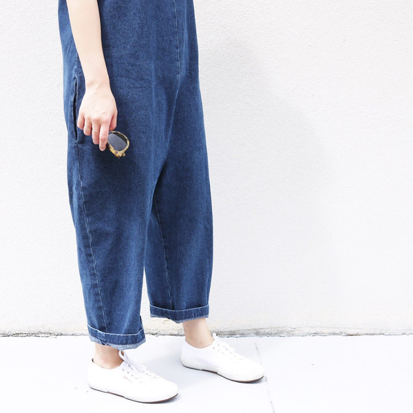 Ilana Kohn Gary Jumpsuit, Denim, Cotton