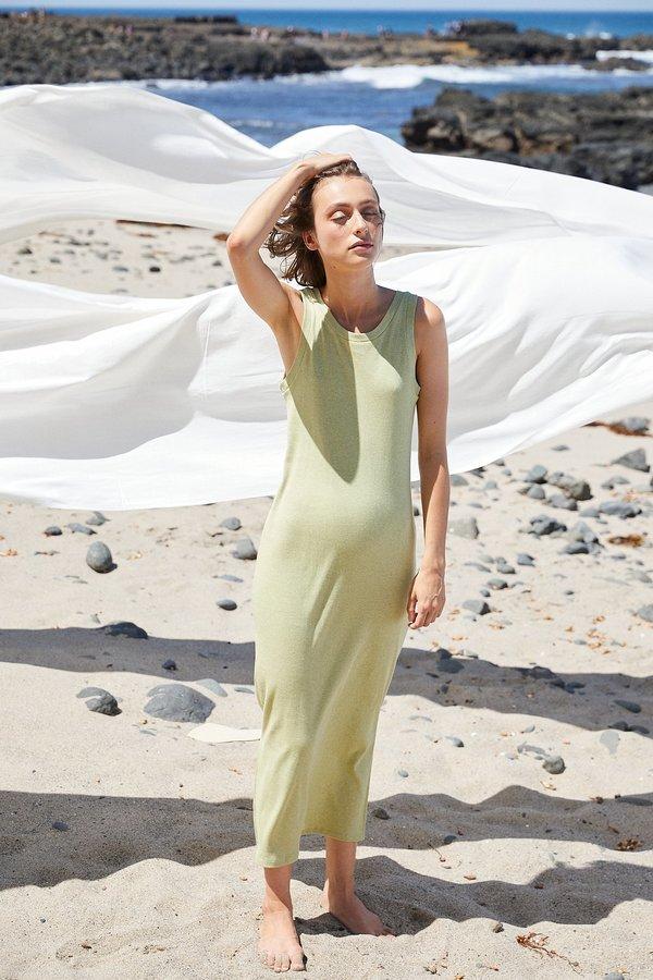 Lois Hazel Rib Tank Dress - Pistachio
