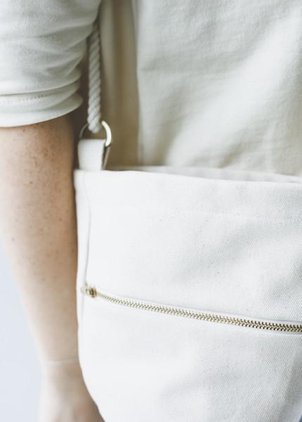 Lotfi Mini Bucket Bag in Natural