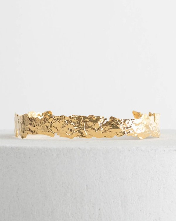 W A N T S  Fitted Choker - Gold Brass