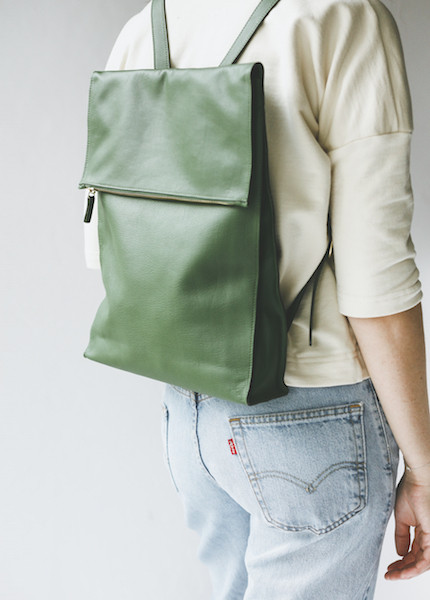 Minor History - Traveller Square Backpack in Kelly