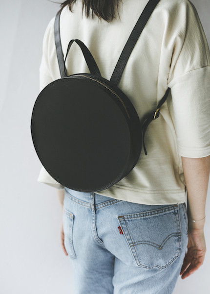Minor History Super Moon Round Backpack in Black
