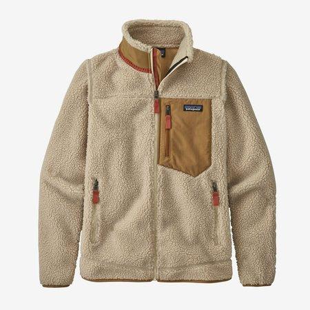 Patagonia Classic Retro-X Fleece Jacket - Natural/Nest Brown