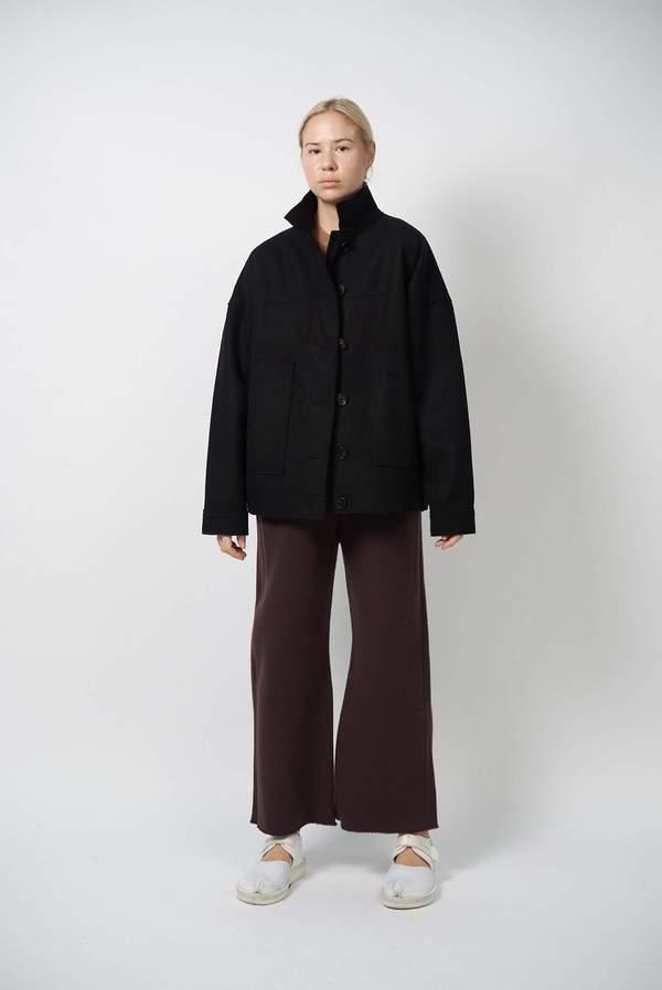 Unisex Oyuna Cali Woven Cashmere Jacket - Black
