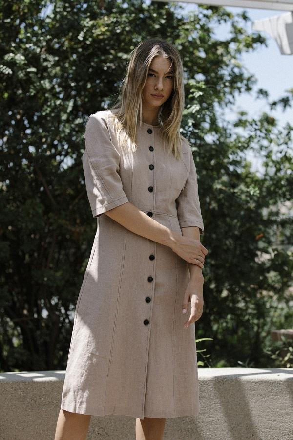 Six Crisp Days Valery Dress - tan