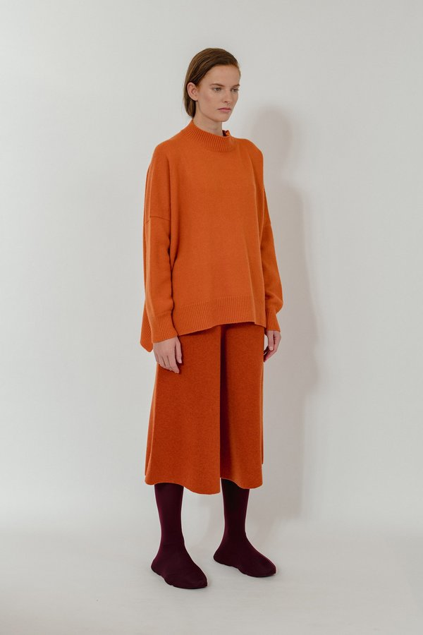 Oyuna Vega Knitted Wool Blend Pullover - Flame Fluff
