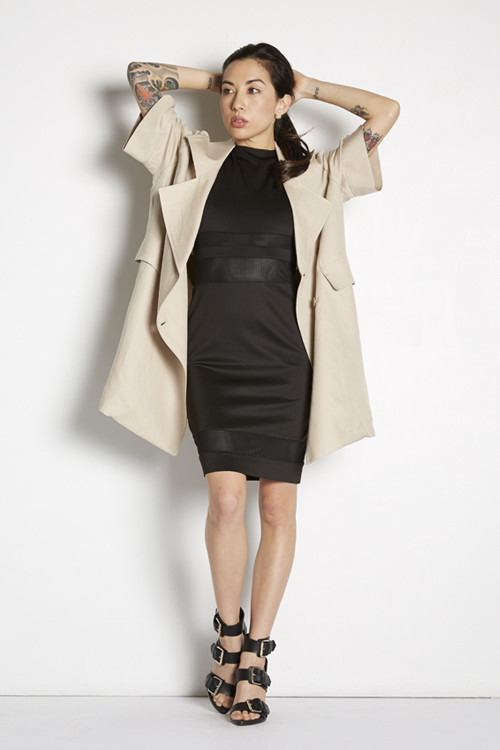 Tina Blossom Cropped Sleeve Trench