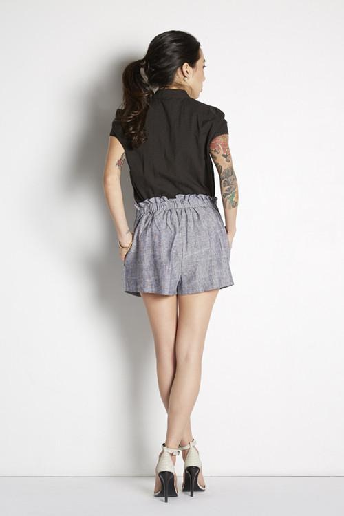 Achro Drawstring Linen Shorts