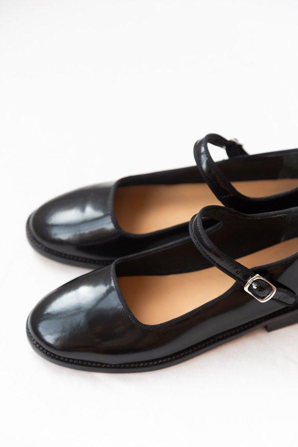 Caron Callahan Welt Ellie Mary Jane - Black Polished Leather