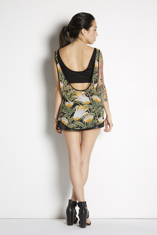 Shades of Grey by Micah Cohen Floral Tank with Bandeau