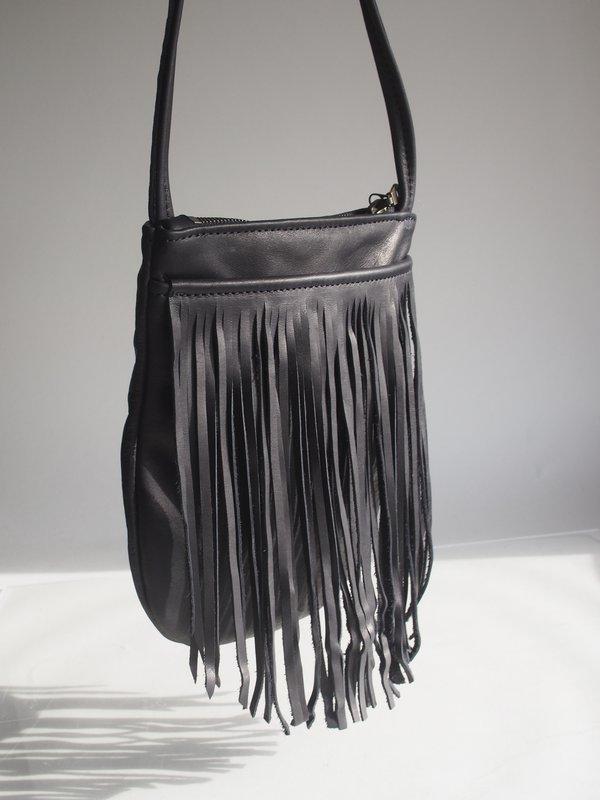 Sord Studios Leather Fringe Bag - black