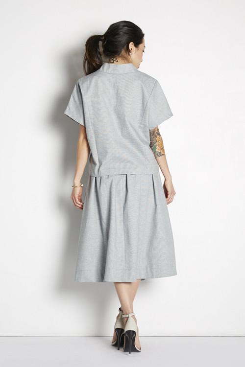 Achro High Waist Midi Skirt