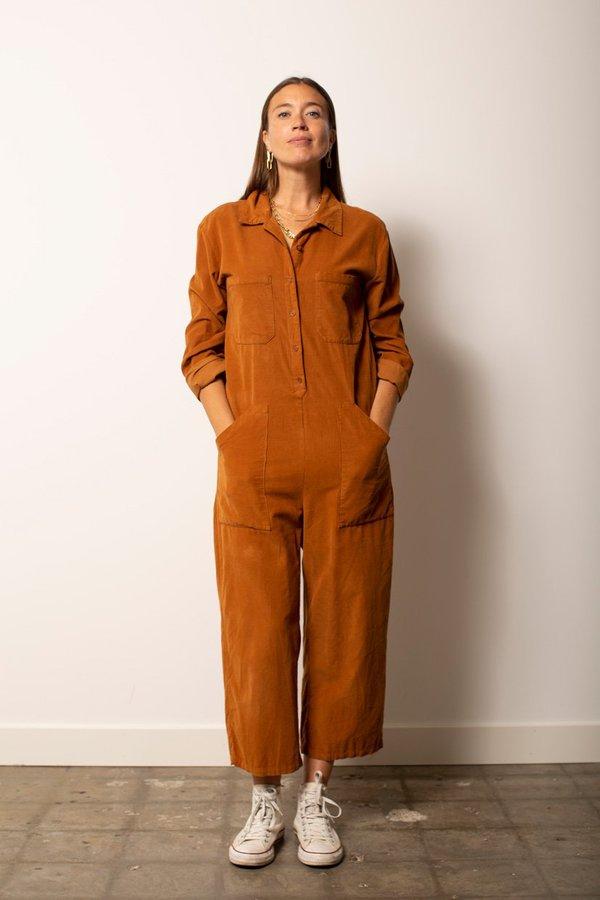 Lacausa Corduroy Charlie Jumpsuit - Bourbon