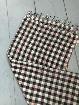 Indigo Handloom Checkerboard Scarf