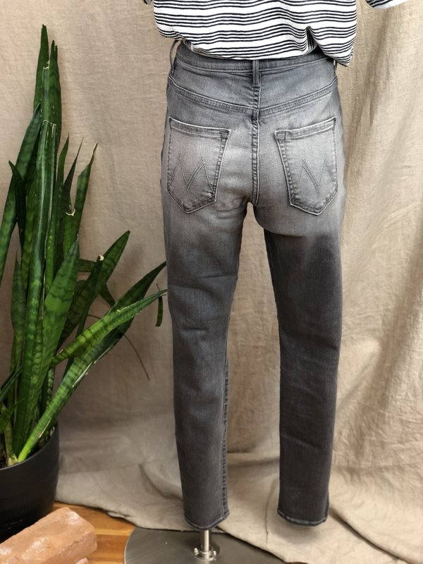 [Pre-loved] Mother Denim The Swooner Two-Tone Skinnies - Grey Wash Denim