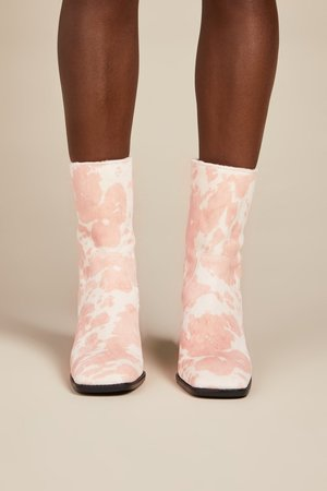 """""""INTENTIONALLY __________."""" PG Boots - Moo Baby Pink"""