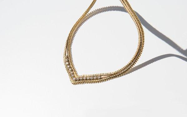 Kindred Black Lancastre Necklace - 14k Gold