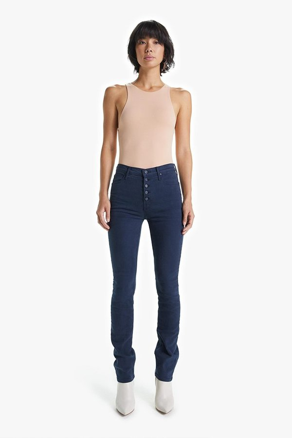 Mother Denim The Pixie Dazzler Sneak Jeans - Blue Indigo