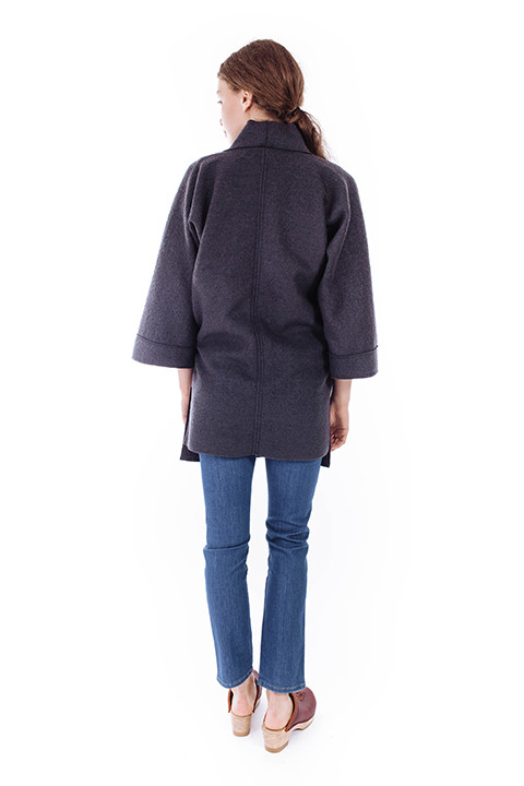 Priory Hami Jacket in Heathered Navy