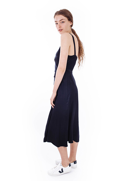 LACAUSA Las Palmas Dress in Navy