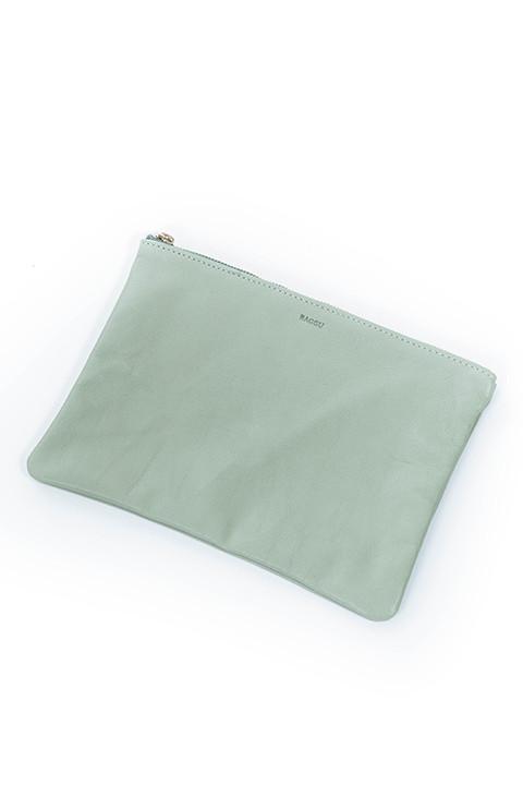 Baggu Medium Size Flat Pouch in Sea Glass