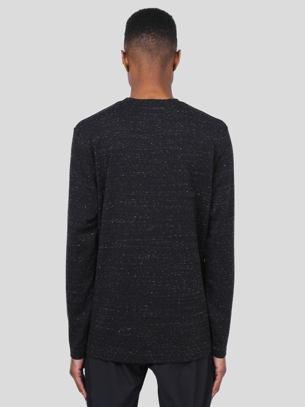 Wings+Horns Knit Signals Long Sleeve T-shirt - Static Black