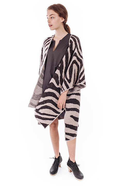 Mara Hoffman Zebra Sweater Cape
