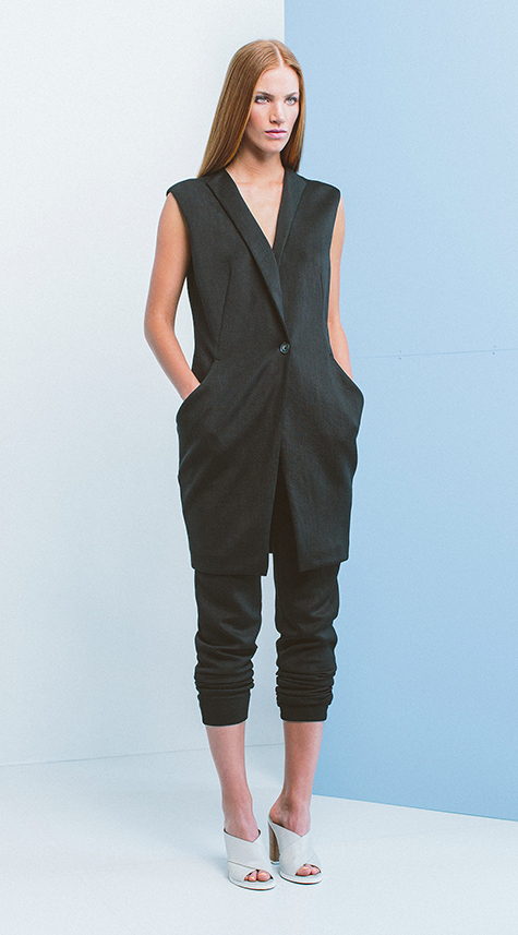 Obakki Long Cupro Vest with pockets