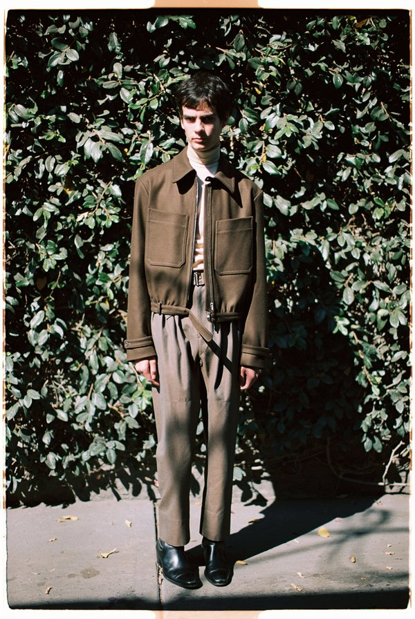 Lemaire Military Wool 4 Pleats Pants - Ocre Brown