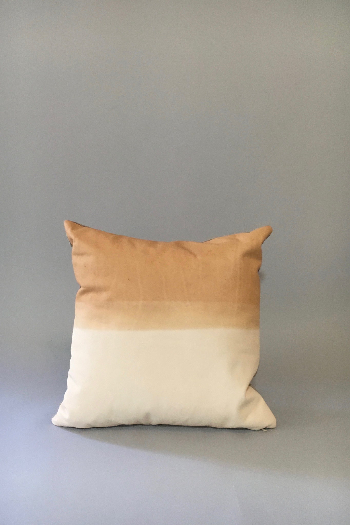 Materials + Process Two-Toned Modern Leather Pillow, large Garmentory